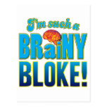 Bloke Brainy Brain Postcards