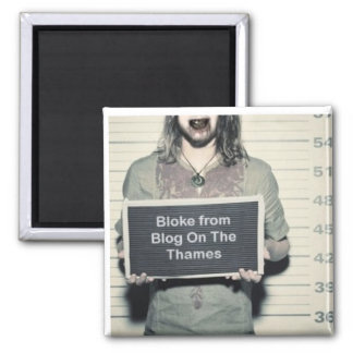 bloke from blog on the thames 2 inch square magnet