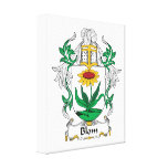 Blom Family Crest Stretched Canvas Prints