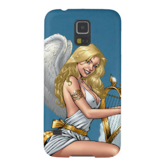 Blond Angel with Golden Heart-shaped Harp S5 Case For Galaxy S5