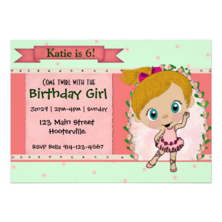 Blond Ballet or Dance Party Personalized Invite