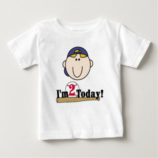 Blond Baseball 2nd Birthday Baby T-Shirt