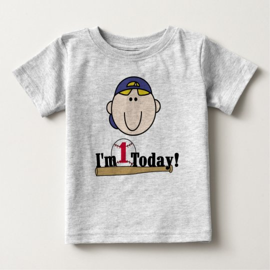 Blond Baseball First Birthday Baby T-Shirt