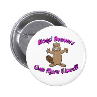 Blond Beavers Get More Wood Pins