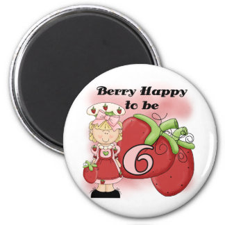Blond Berry 6th Birthday T-shirts and Gifts Magnet