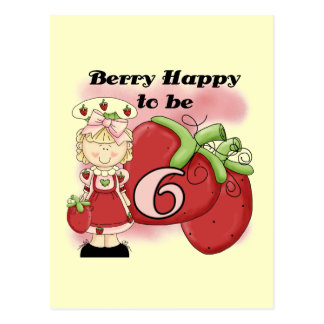 Blond Berry 6th Birthday T-shirts and Gifts Postcard