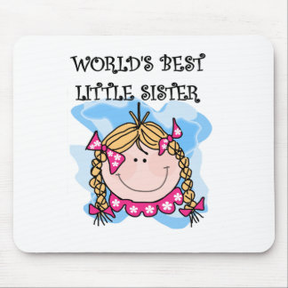 Blond Best Little Sister Mouse Pad
