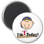 Blond Boy Baseball 1st Birthday Tshirts Fridge Magnet