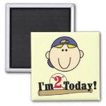 Blond Boy Baseball 2nd Birthday Tshirts Magnet