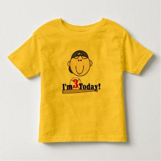 Blond Boy Baseball 3rd Birthday Toddler T-shirt