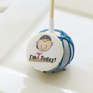 Blond Boy Baseball Player 7th Birthday Cake Pops