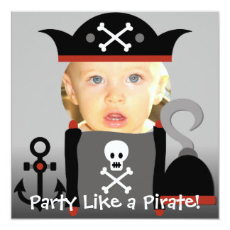 Blond  Boy Party Like a Pirate Birthday Invites