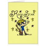 Blond Boy Rock Star Card