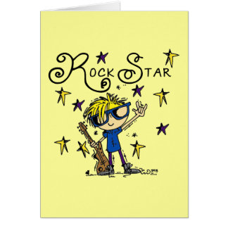 Blond Boy Rock Star Card
