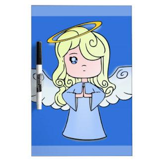 Blond Cartoon Angel Dry-Erase Whiteboards