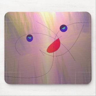 Blond cat mouse pads
