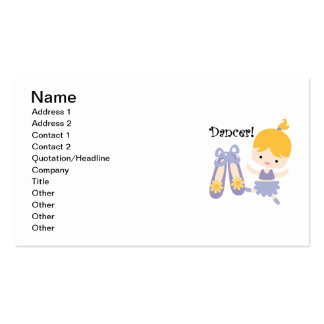 Blond Dancer Double-Sided Standard Business Cards (Pack Of 100)