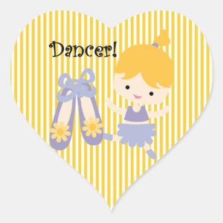 Blond Dancer Heart Sticker