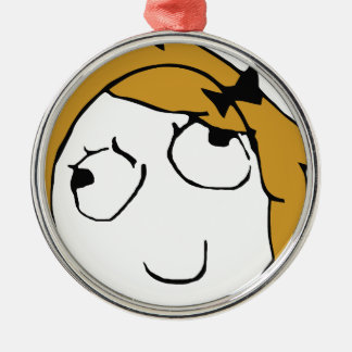 Blond Derpina Metal Ornament