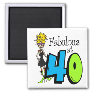 Blond Fabulous at 40 Birthday Magnets