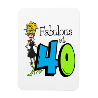 Blond Fabulous at 40 Birthday Magnet