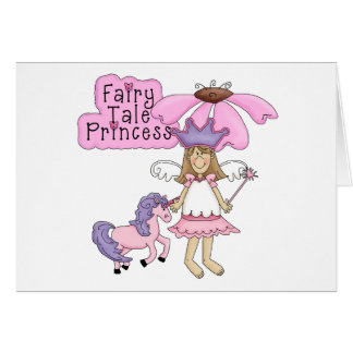 Blond Fairy Tale Princess Card