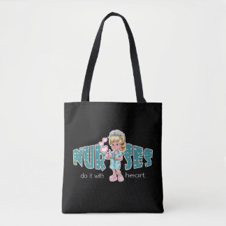 Blond Female Nurse design Gift Tote Bags