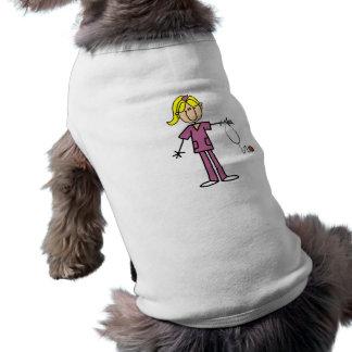 Blond Female Stick Figure Nurse Pet Clothing