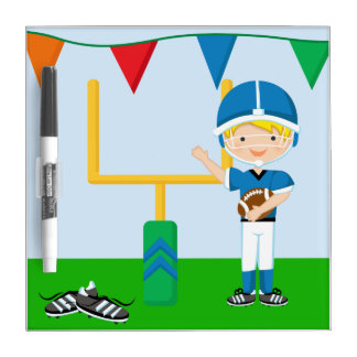 Blond Football Player  Dry Erase Board