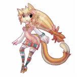 Blond Furry Cat Girl Photo Cutouts