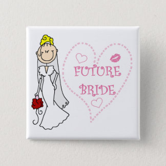 Blond Future Bride T-shirts and Gifts Pinback Button