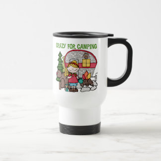 Blond Girl Crazy For Camping Coffee Mug