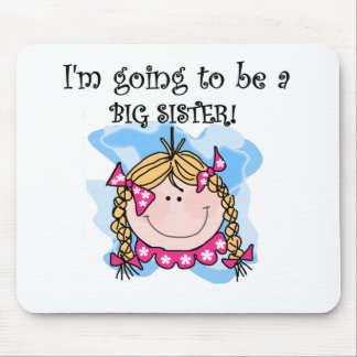 Blond Girl Future Big Sister Mouse Pad