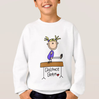 Blond Girl Gymnast on Beam Tshirts and Gifts