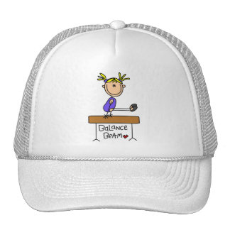 Blond Girl Gymnast on Beam Tshirts and Gifts Hat