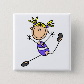 Blond Girl Gymnast Tshirts and Gifts Pinback Button