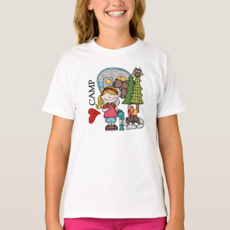 Blond Girl I Love Camp Camping Recreation T-shirt