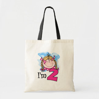 Blond Girl I'm Two Tote Bag