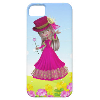 Blond Girl in Pink Dress iPhone 5 Case