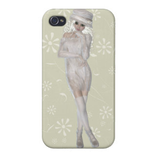 Blond Girl iPhone 4 Glossy Finish Case