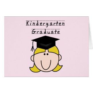 Blond Girl Kindergarten Graduate Greeting Card