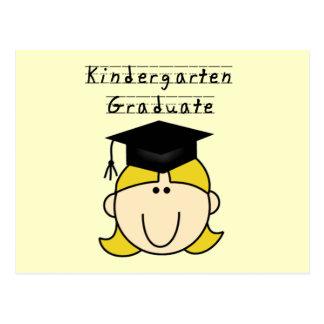 Blond Girl Kindergarten Graduate Postcard