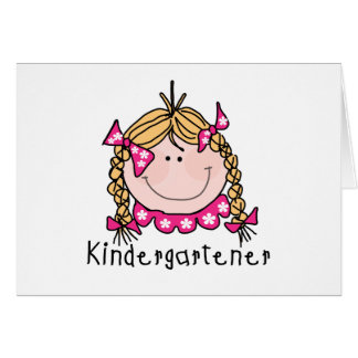 Blond Girl Kindergartener Tshirts and Gifts Card