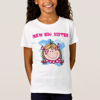 Blond Girl New Big Sister T-Shirt