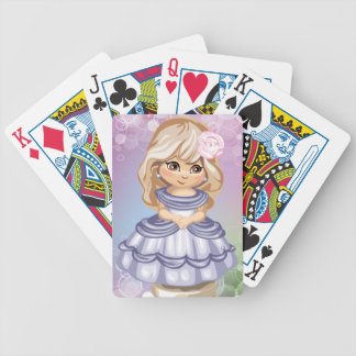 Blond Girl Playing Cards