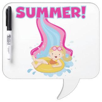 Blond Girl Summer Dry Erase Whiteboards