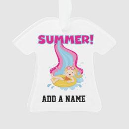 Blond Girl Summer Ornament