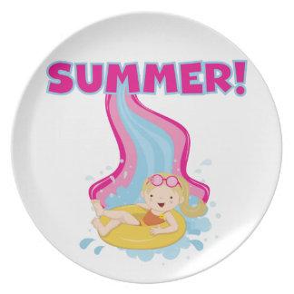Blond Girl Summer Plate