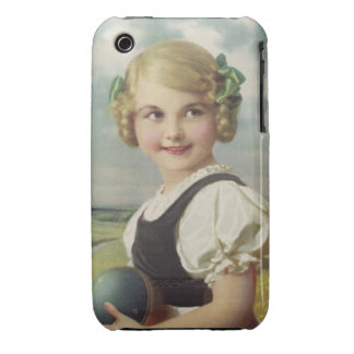 Blond Girl with Ball Case-Mate iPhone 3 Cases