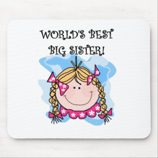 Blond Girl World's Best Big Sister Mouse Pad